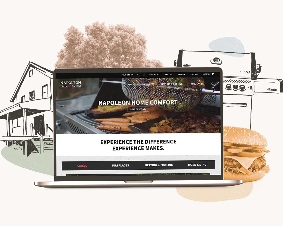 Napoleon Home Comfort Case Study Mocks