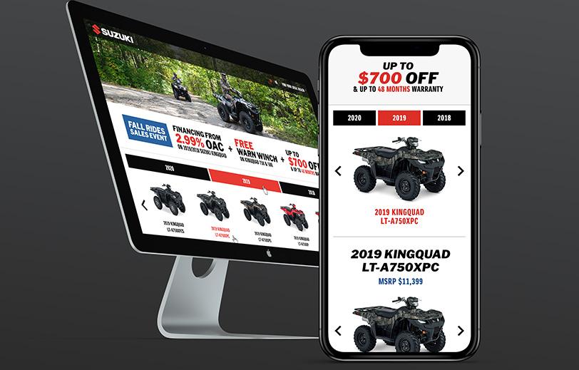 Suzuki Canada Website Mock