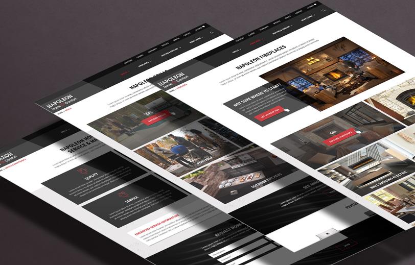Napoleon Home Comfort Website Mock
