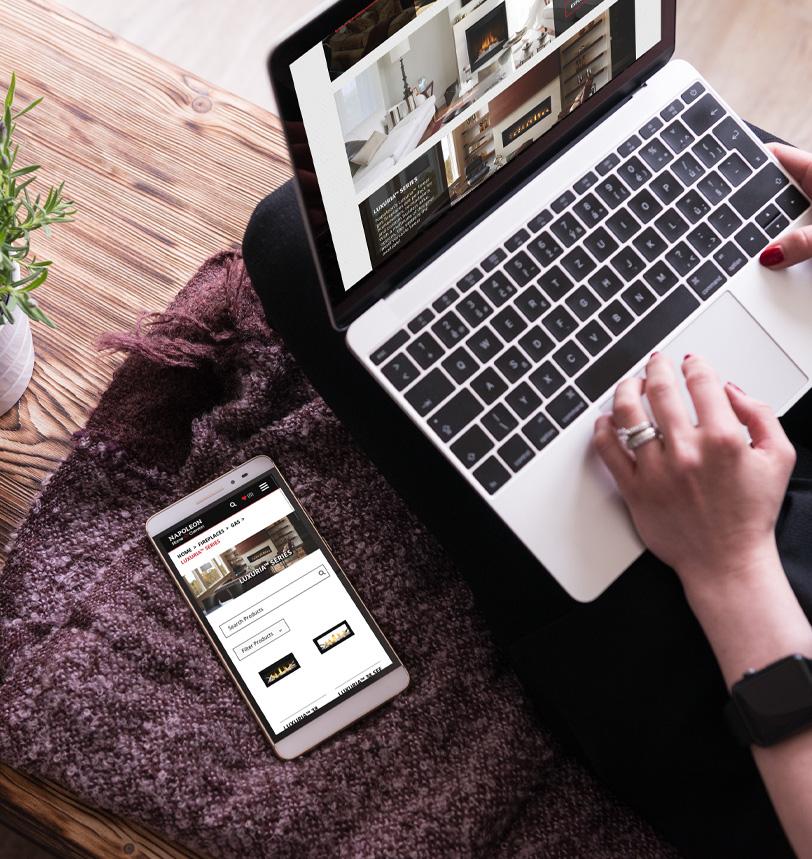 Napoleon Home Comfort Website and Mobile Mock