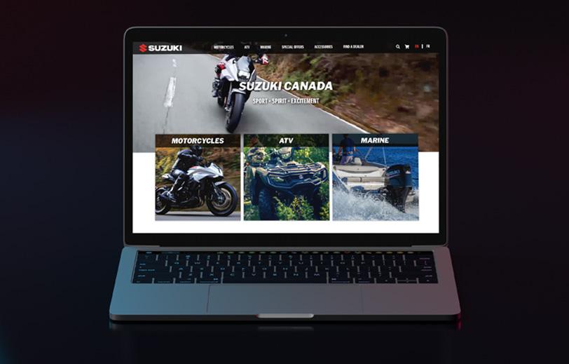 Suzuki Canada Website Homepage Laptop Mock