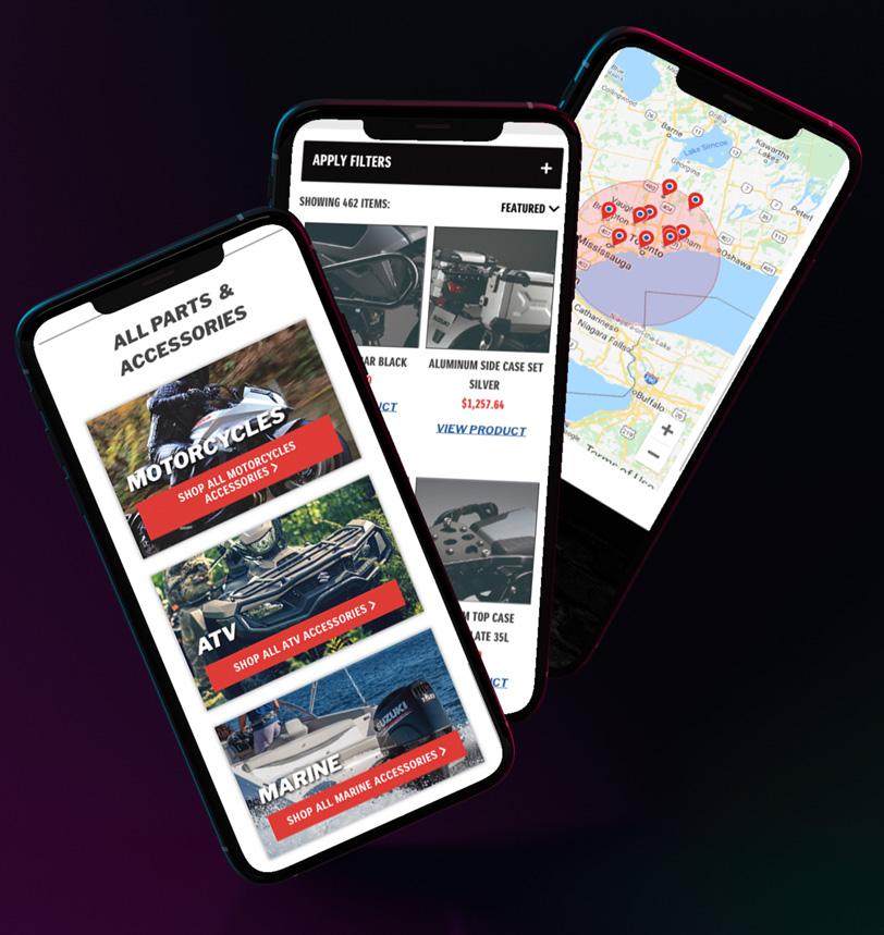Suzuki Website Mobile Mocks